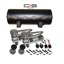 Air Bag Suspension Compressors & 5 Gallon Tank AirMaxxx 480 Pewter 150psi Kit