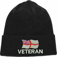 Royal Navy RN Veteran Embroidered Beanie, Army British Navy Forces Logo Hat