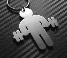 WEIGHTLIFTER Snatch Clean & Jerk Barbell Plates Squats Deadlift Keyring Keychain