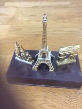 Paris Statue Gold With Brown Stand