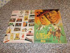 ALBUM IL LEGGENDARIO WEST RELI 1968 ORIGINALE COMPLETO(-2 FIG) OTTIMO TIPO EDIS