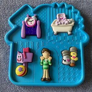 blues clues toddler 3D 5pc tray puzzle Preschool  2001 Mattel