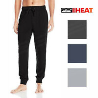 Men's 32 Degrees Heat Weatherproof Soft Tech Fleece Jogger Pants Grey Blue Black