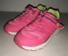 Stride Rite Neon Pink Sneakers Girls Made to Play Athletic Shoes Size 8.5W