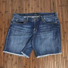 Lucky Brand Womens Size 12 Laguna Shorts Mid Rise Cotton Jean Denim