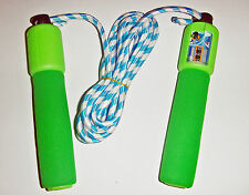 NEW HARD FOAM HANDLED SKIPPING ROPE WITH COUNTER, KIDS OUTDOOR ACTIVITY, FITNESS