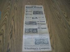vintage newspaper advertisement marion bicycles and marion tires 1905
