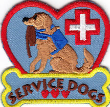 """SERVICE DOG"" - Iron On Embroidered Patch/Animals - Profession - Pets - Dogs"