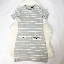 Banana Republic Gray Striped Short Sleeve Sweater Dress Size XS