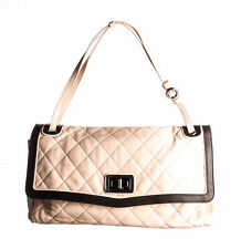 CHANEL Light Beige Brown Quilted Lambskin Leather Maxi Mademoiselle Flap Bag