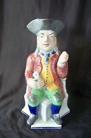 """Vintage English Earthenware Polychrome Large Toby Jug """"The Squire"""" / Wonderful"""
