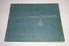 Teilekatalog Spare Parts Catalogue Jowett Javelin De Luxe + Standard P.C., 1951