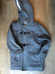 Matalan grey duffle coat with toggles jacket age 5-6 years