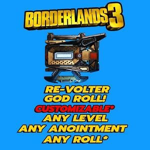 Borderlands 3 Re-Volter Shield, God Roll, Customizable, PlayStation XBox 🔥