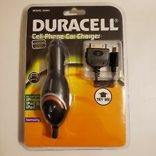 Duracell Cell Phone Car Charger iPhone iPad iPod Samsung Model G0281