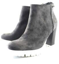 Para mujeres Damas Niñas Zapatos Botas Talla Reino Unido 3, 4, Gris