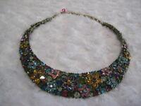 "HEIDI DAUS ""Fantasy In Florals"" (Br.Multi/Fuchsia)Collar Necklace (Orig.$239.95)"