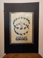 Pubblicità originale Rumianca rifilatura da rivista in passepartout
