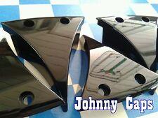 "Baccarat Wheels ""Linc"" Black Insert #636285F-4 Custom Center Cap Inserts (6)"
