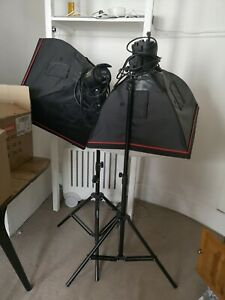 Twin Softbox Elemental Continuous Quartz Light Units (1000W) C1000 Studio Lights