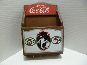 Vintage Wooden Enjoy Coca-Cola Key Hanger/Letter Holder