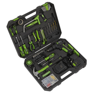 Sealey S01224 101 Piece Toolkit With Cordless Drill