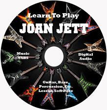 Joan Jett Guitar TABS Lesson CD 39 Songs + Backing Tracks + Bonus!