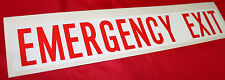 TOYOTA EMERGENCY EXIT DECAL EXTERIOR STICK ON COASTER FROM JAN 93> NEW GENUINE