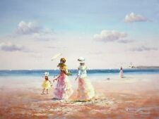 Children Playing On The Beach 90x120 cm Oil Painting 58764