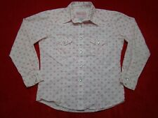 Rodeo Girl by Liz Girls XL Pink Floral Silver Thread Pearl Snap Western Shirt