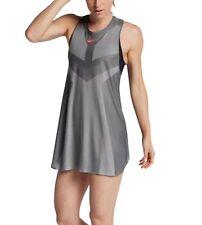 WOMENS NIKE COURT DRY SLAM TENNIS DRESS SIZE M (854883 073) GREY