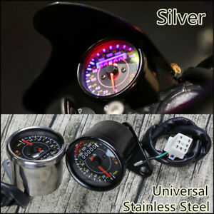 12V Motorcycle Odometer Speedometer KM/H MPH Guage EFI Oil Pump Indicator Meter