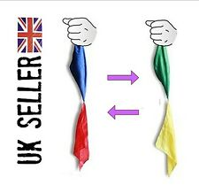 Colour changing silk hanky. magic trick- easy to do- close up