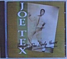 JOE TEX - CD - The Early Years - BRAND NEW