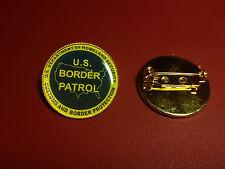 U.S. BORDER PATROL  `DEPT. OF HOMELAND SECURITY`  Gold Plated PIN Badge