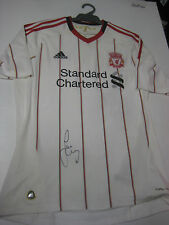LIVERPOOL-JAMIE CARRAGHER HAND SIGNED 2010-11 AWAY JERSEY + PHOTO PROOF + C.O.A