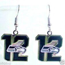 Seattle Seahawks 12 Fan Dangle Earrings