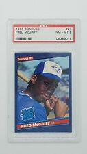 1986 Donruss Baseball Fred McGriff RC Rookie #28 PSA 8 NM/MT