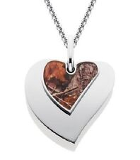 RealTree Heart Pendant with AP Camo, Licensed Camo Necklace