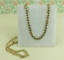 9ct Gold Curb Chain Solid Link Hallmarked 20 Inch 9.9 grams free gift box