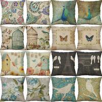 18'' Vinage Pillow Case Sofa Car Waist Throw Cushion Cover Home Decoration