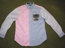 Mens (L) POLO-RALPH LAUREN Block Solid/ Plaid Oxford Shirt
