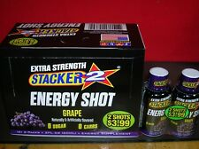 72-EX. STRENGTH GRAPE STACKER ENERGY SHOT - GUARANTEED FRESH-SAVE $$-FAST SHIP