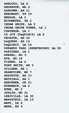KANSAS CITY SOUTHERN RAILWAY TRAIN ORDERS (602) SYSTEMWIDE  1900-1985  CD!!