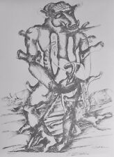 OSSIP ZADKINE  from The Works of Herakles Hand signed LITHOGRAPH Russian/French