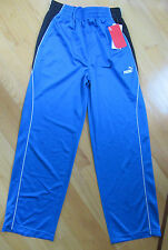 NWT PUMA BOYS BLUE NAVY ATHLETIC RUNNING TRAINING SWEAT PANTS L14/16