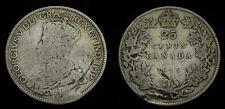 1915 Key Date Canada Silver Quarter 25 Cents G-4 George V