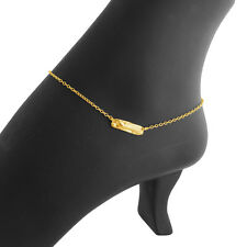Articulation Bar Pendant Anklet #14k Gold Plated Sterling Silver #Azaggi A0713G