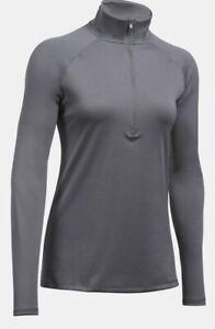 Under Armour Women's UA Heatgear Tech Corp ¼ Zip Long Sleeve Shirt. Graphite