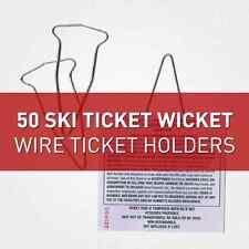 Ski Gartentore-Draht Ticket Inhaber, Ski Ticket Halter (50)